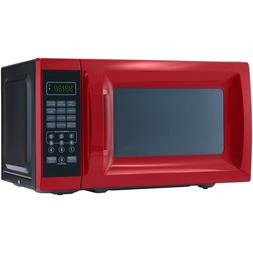 Black Red Microwave Oven Digital Countertop Kitchen 700w 0.7