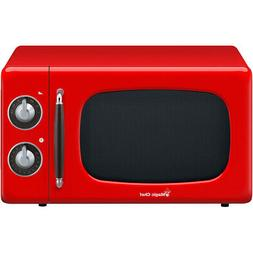 0.7-Cu. Ft. 700W Retro Countertop Microwave Oven in Red
