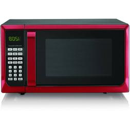 Hamilton Beach 0.7 Cu. Ft. Red White Microwave Oven FREE 2 D