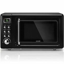 0.7Cu.ft Retro Countertop Microwave Oven 700W LED Display Gl