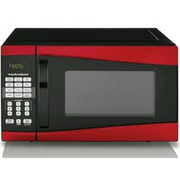 Hamilton Beach 0.9 Cu-Ft. Microwave Oven Red Stainless Steel