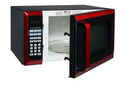 Hamilton Beach 0.9 Cu-Ft. Microwave Oven, Red, Stainless Ste