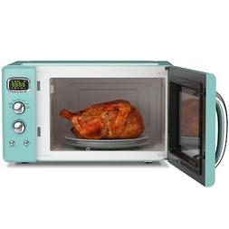0.9Cu.ft. Retro Countertop Microwave Oven 900W 8 Cooking Set