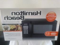 Hamilton Beach 1.1 Cu Ft Microwave Oven, 1000 Watt,Black