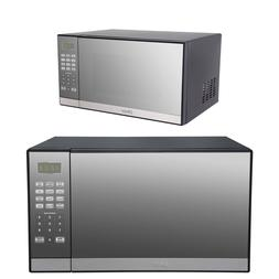 1000W Microwave Oven w/ Grill Countertop Kitchen Cooker Mirr