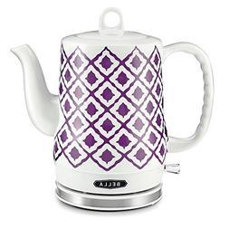 Bella 14077 IKAT Ceramic Kettle - Purple