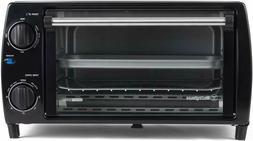 4 slice countertop toaster oven black