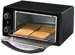 4-Slice Countertop Toaster Oven Broiler & Timer - Black - Br