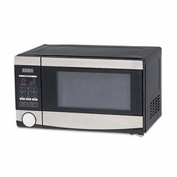 Avanti .7 Cu. Ft. Cap. Microwave, 700 W, Stainless Steel/Bla