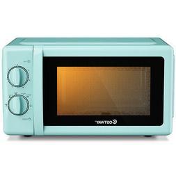 700W Retro Countertop Microwave Oven w/Glass Turntable 0.7 C