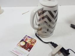 Bella - 1.8l Electric Ceramic Kettle - Silver Foil/white