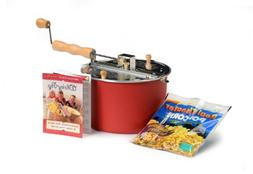 Red Whirley Pop Stovetop Popcorn Popper with Popping Kit - P