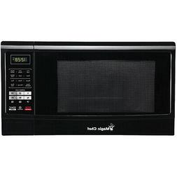 Black Countertop Microwave Oven 1.6 Cu. Ft. 1100W +Push-Butt