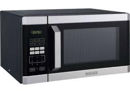 Black+Decker 0.9 cu ft 900W Microwave Oven, Stainless Steel