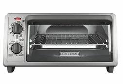 BLACK+DECKER 4-Slice Countertop Toaster Oven, Stainless stee
