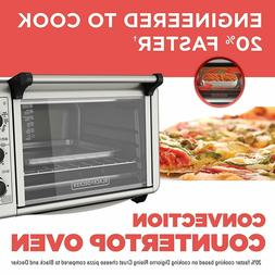 BLACK+DECKER TO3210SSD 6-Slice Convection Countertop Toaster