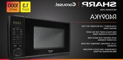 Sharp Carousel 1.3-cu - Ft. Countertop Microwave Oven, Black