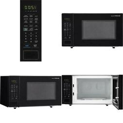 Carousel 1.4 Cu. Ft. 1000W Countertop Microwave Oven In Blac