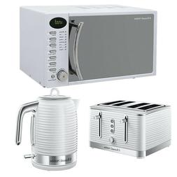 Russell Hobbs RHM1714WC White Microwave Kettle Toaster Set B