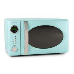 Countertop Microwave Oven Retro 0.7 cu. ft. Aqua 12 Pre-prog