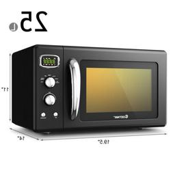 Cute Home Microwave Oven Low Profile Mini Small Compact Dorm