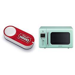 Daewoo Retro Microwave Oven, 0.7 cu. ft., 700W, Mint Green &