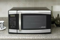 designer dmw 077 blsdd stainless countertop microwave