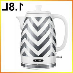 Bella Electric Tea Kettle 1.8L CeramicCordless White & Sil