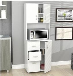 Kitchen Storage Cabinet Microwave Countertop Drawers Shelf S