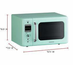 Daewoo KOR-7LREM Retro Countertop Microwave Oven0.7Cu.Ft 700