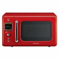 Daewoo KOR-7LRER Retro Countertop Microwave Oven 0.7 Cu. Ft.