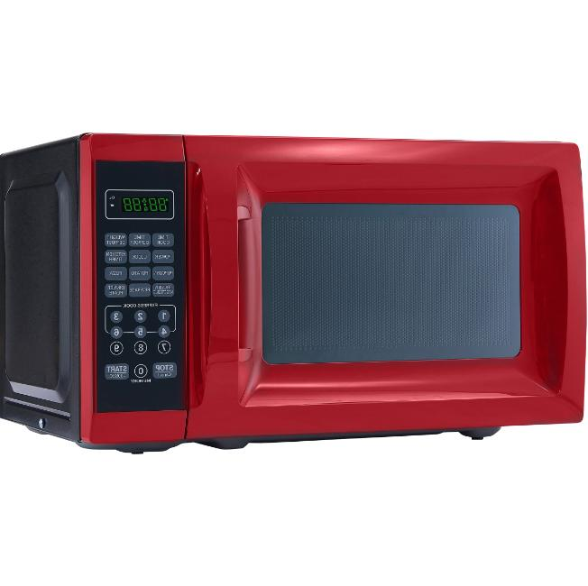 0.7 Cu. Ft. 700W Red Microwave Oven with 10 Power Levels Cou