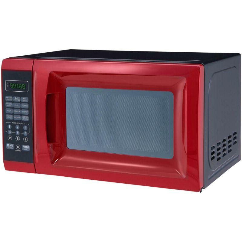 Mainstays 0.7 700W Red Microwave 10 Levels