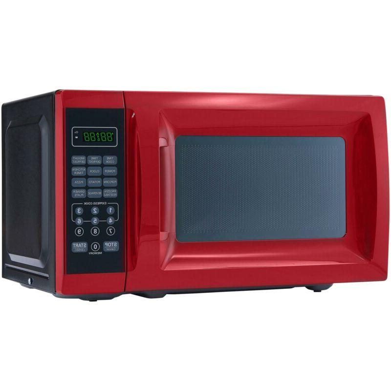 0 7 cu ft 700w red microwave