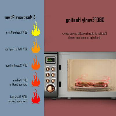 0.7Cu.ft Retro Microwave Oven LED