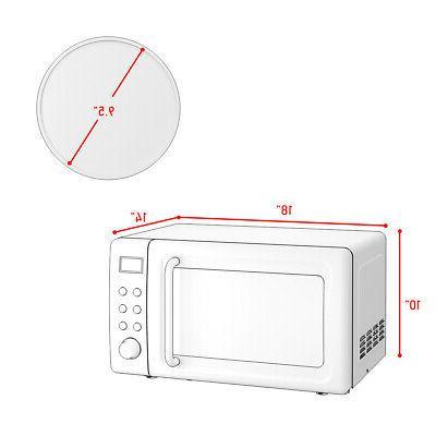 0.7Cu.ft 700W Retro Countertop Microwave Glass
