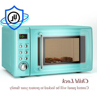 0.7Cu.ft  700W Retro Countertop Microwave Oven LED Display G