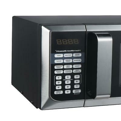 Hamilton Beach 0.9 Cu. Ft. 900 Steel Microwave Oven