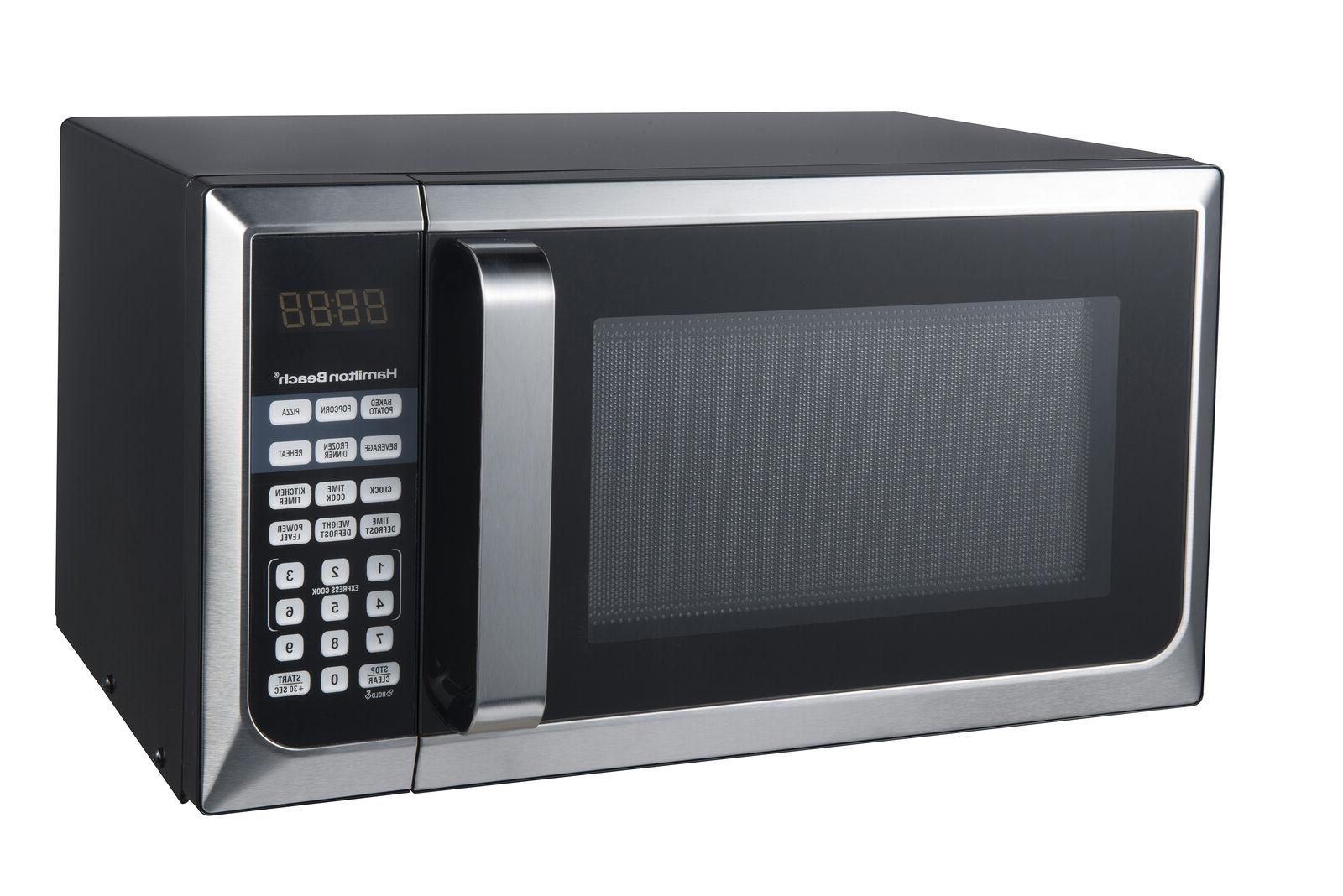 Hamilton 0.9 Ft. Stainless Steel Countertop Microwave