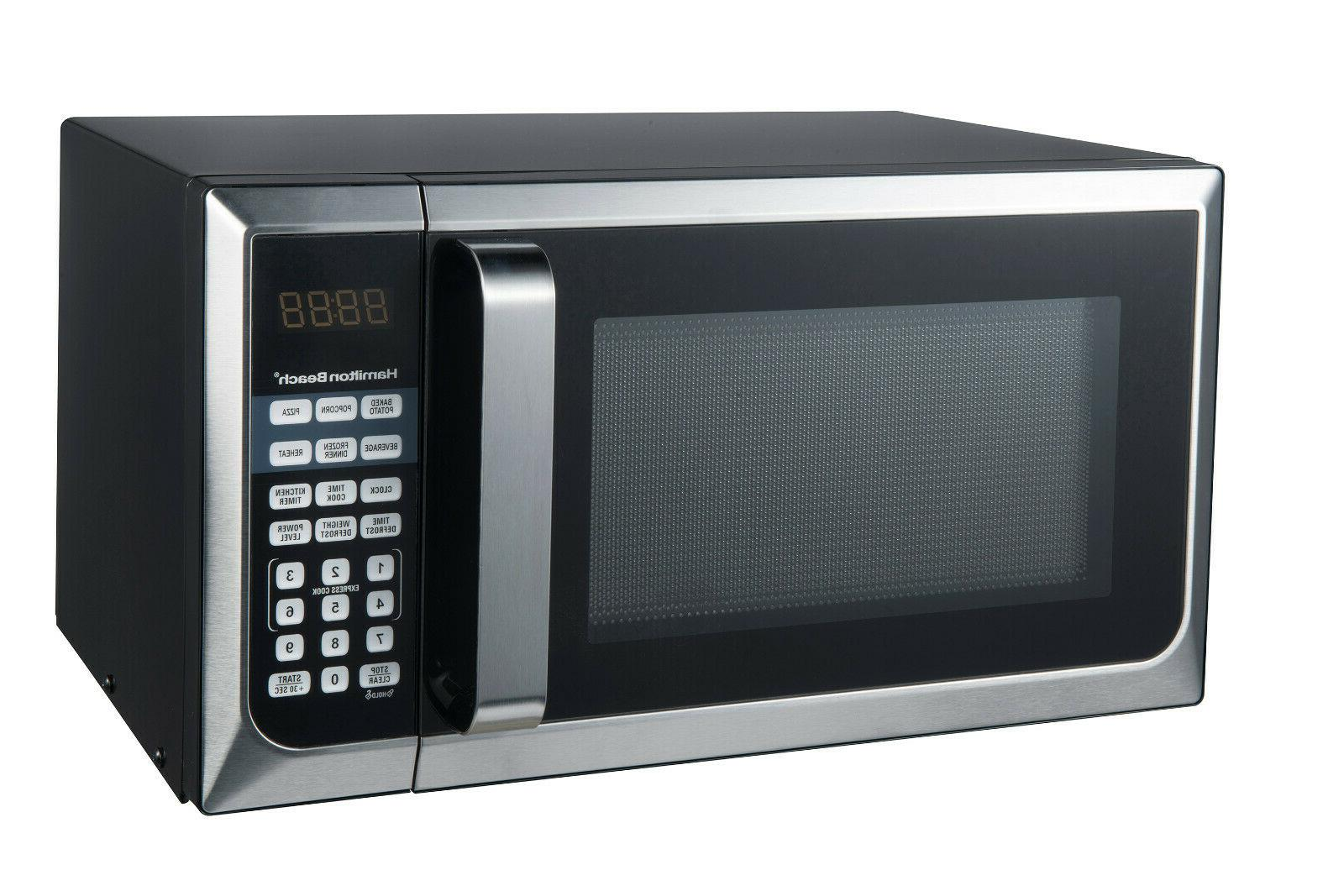 0.9 Cu. Ft. Stainless Steel Countertop Microwave Oven LED Di