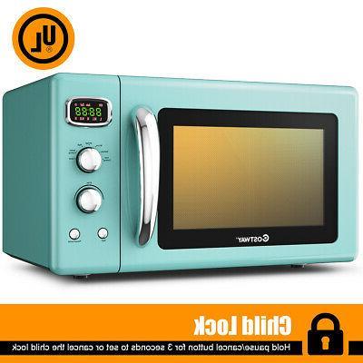 0.9Cu.ft. Retro Countertop Mini Microwave Oven 900W 8 Cookin