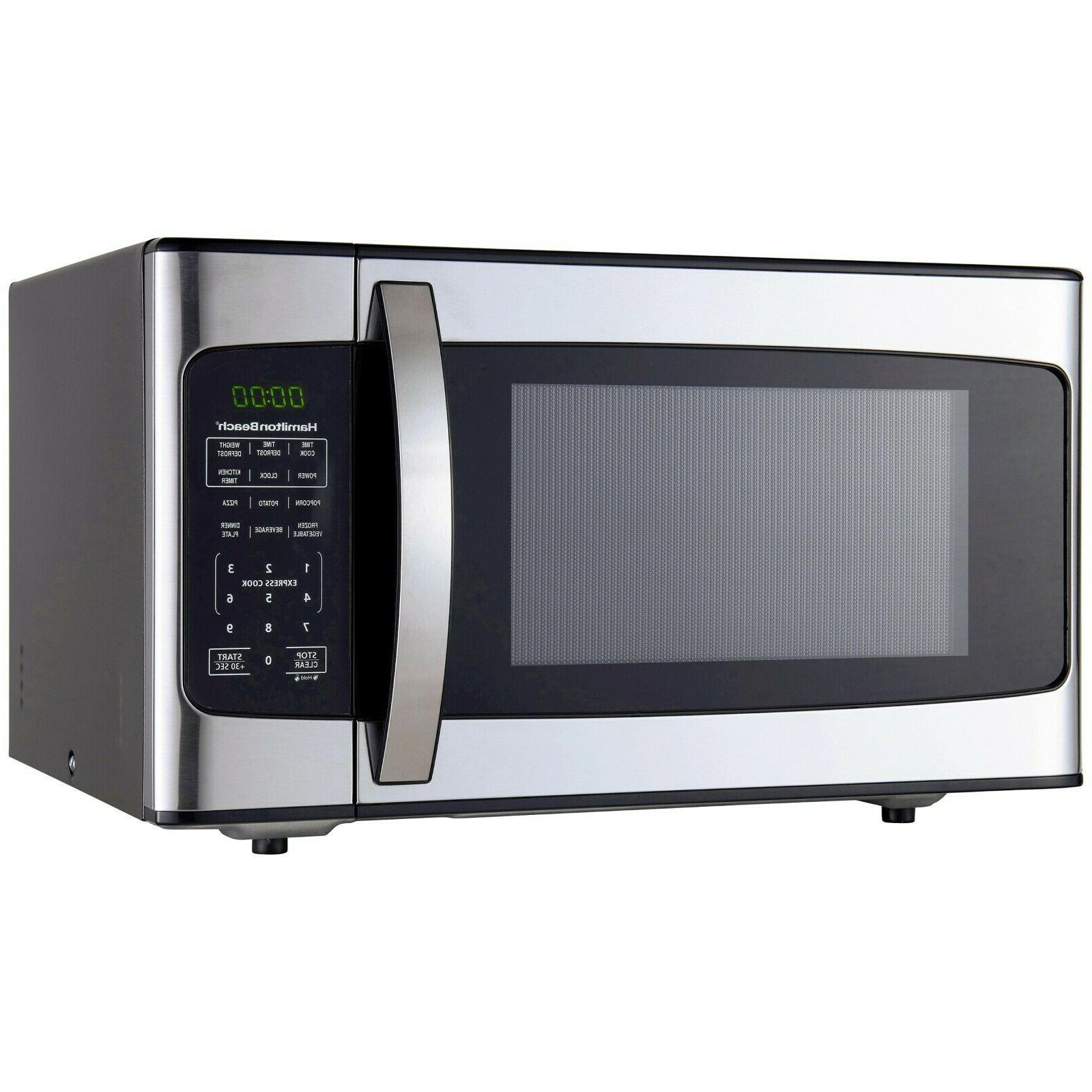1.1 Cu Ft 1000W Stainless Steel Microwave Oven Countertop Po