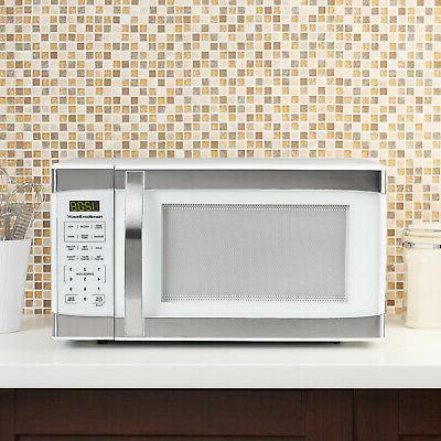 Hamilton Beach White Digital Microwave Oven