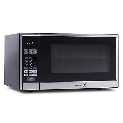 Westinghouse 1000 Watt Kitchen Top Microwave Oven, Silver