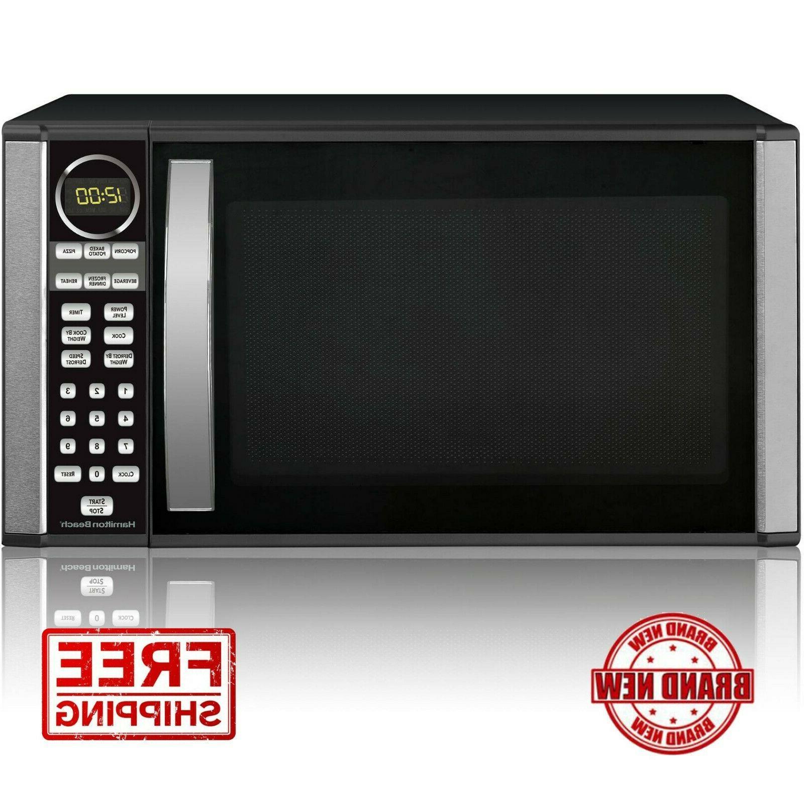 Hamilton Beach 1.3-cu. ft Microwave Oven Black 1000W Stainle