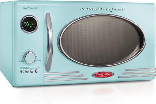 Nostalgia Retro Large Countertop Microwave Oven Easy Clean I