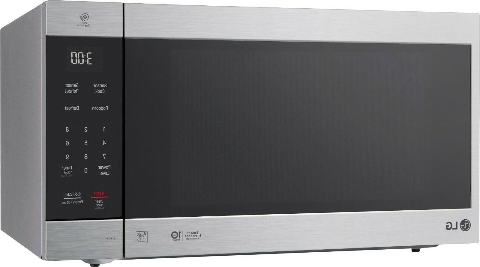LG 2.0 Ft. Family-Size Microwave Stainless steel