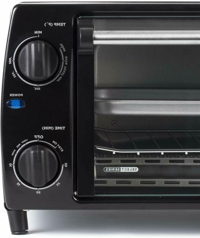 4 Slice Oven, Black