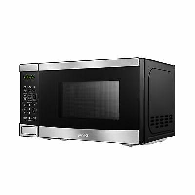 Danby 700W Feet Convenient Stainless Countertop Microwave, Black