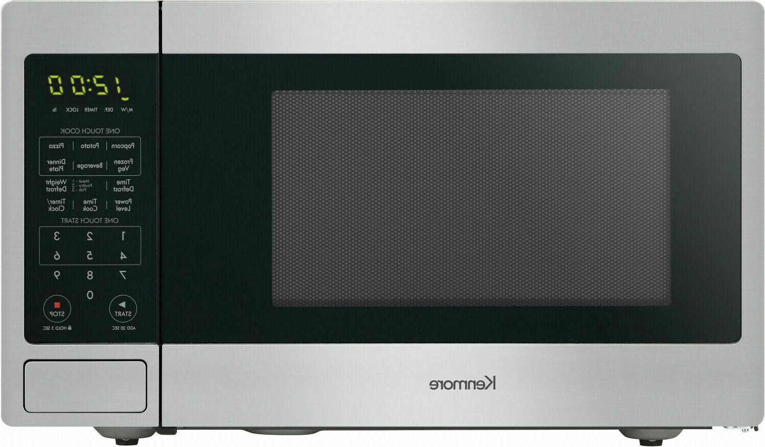 Kenmore 0.9 ft. Countertop Microwave Stainless